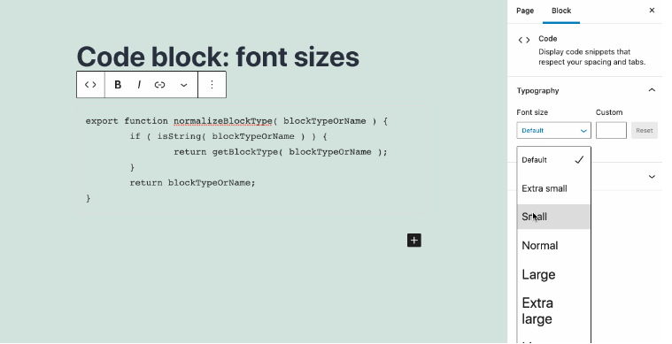 supported-code-block-font-size