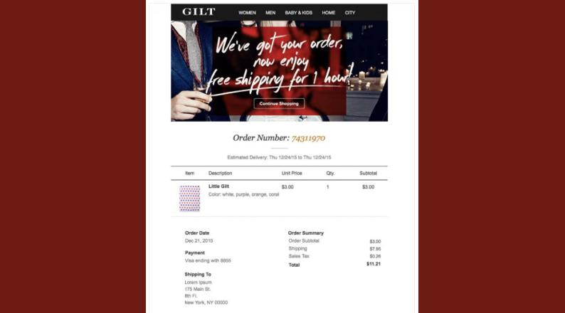 gilt-order-confirmation-email