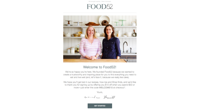 food52-welcome-email